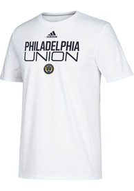 Philadelphia Union Adidas Locker Stacked T Shirt - White