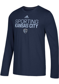 Sporting Kansas City Adidas Locker Stacked T-Shirt - Navy Blue