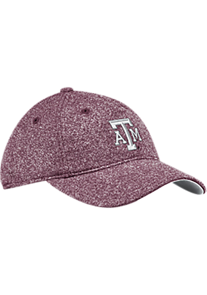 Adidas Texas A&M Aggies Maroon Heathered Slouch Womens Adjustable Hat - Image 1