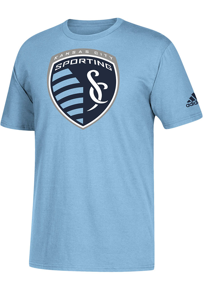 Sporting Kansas City Adidas Squad Primary T Shirt - Light Blue