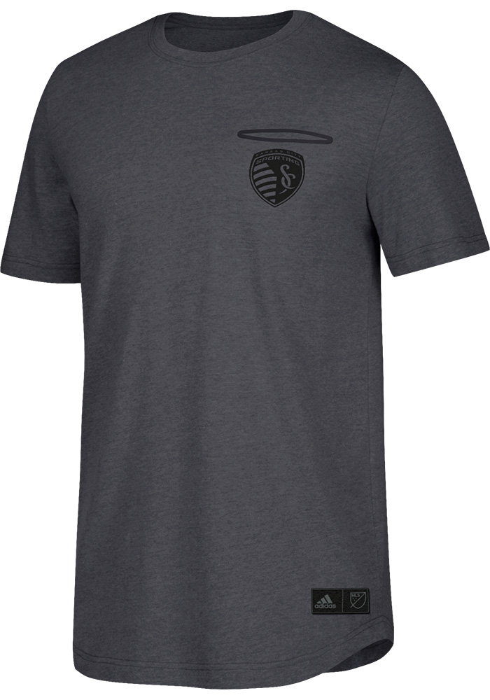 Adidas Sporting Kansas City Grey LC Logo Fashion Tee