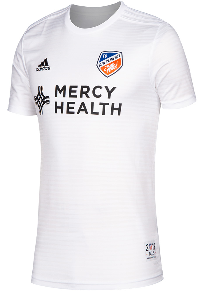 ee2b2c1b80c15 Adidas FC Cincinnati Youth White 2019 Secondary Soccer Jersey