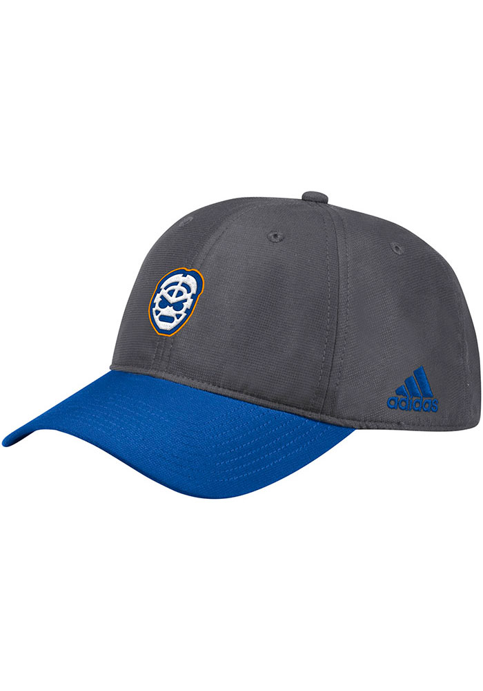 Adidas St Louis Blues Goalie Front Adjustable Hat - Grey - Image 1