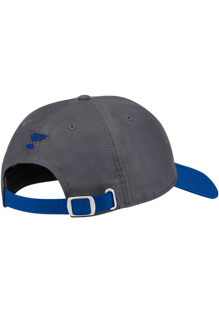 Adidas St Louis Blues Goalie Front Adjustable Hat - Grey - Image 2