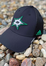 Dallas Stars Adidas Primary Structured Adjustable Hat - Black