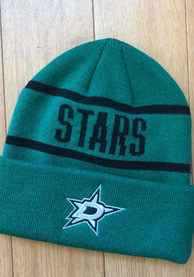 Dallas Stars Adidas Primary Cuff Knit - Green