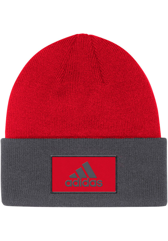 Adidas Chicago Blackhawks Red Sport Cuff Mens Knit Hat - Image 2