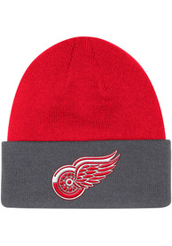 Detroit Red Wings Adidas Sport Cuff Knit - Red