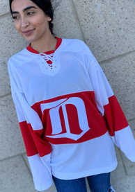 Detroit Red Wings Adidas Throwback Hockey Jersey - White