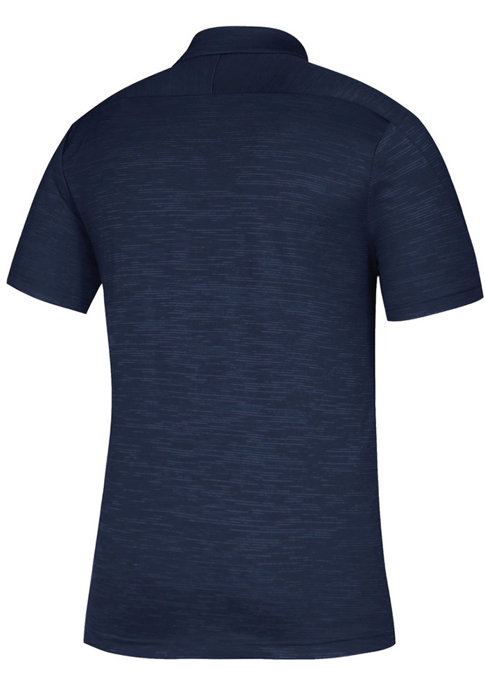 Adidas St Louis Blues Mens Navy Blue Game Mode Short Sleeve Polo - Image 2