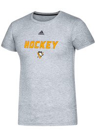 Pittsburgh Penguins Adidas Coordinator T Shirt - Grey