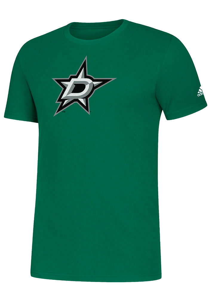 Dallas Stars Adidas Primary Position T Shirt - Kelly Green