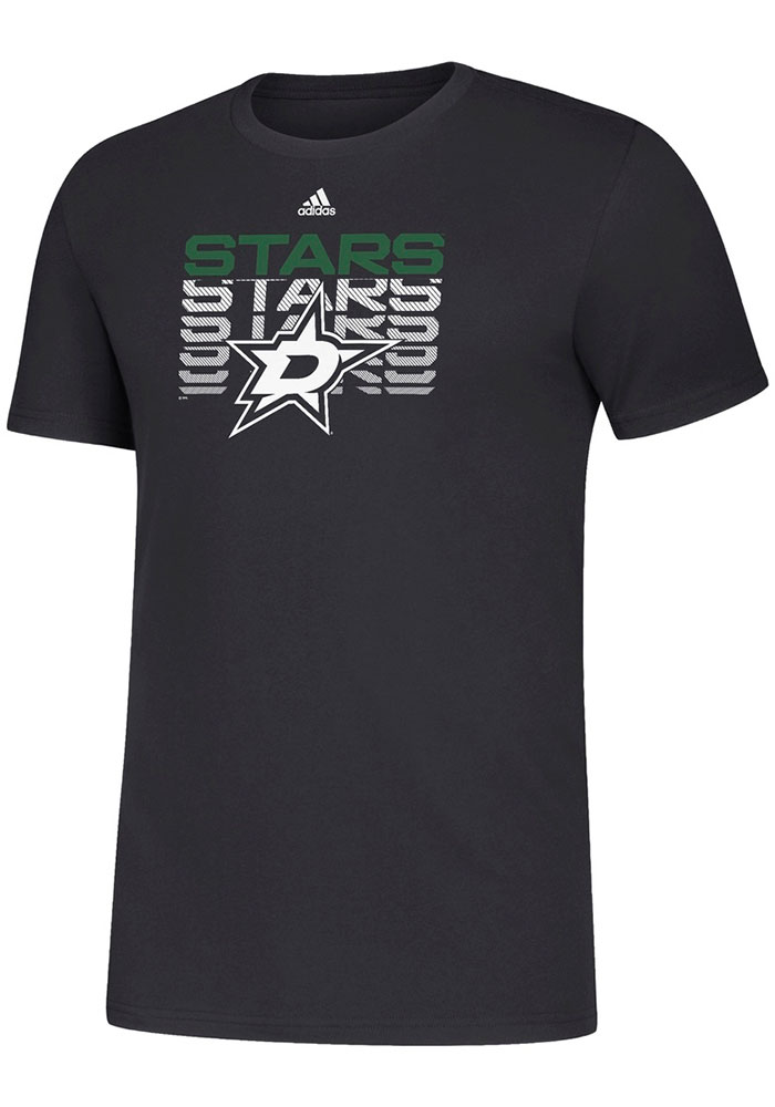 Adidas Dallas Stars Black Repeater Short Sleeve T Shirt - Image 1