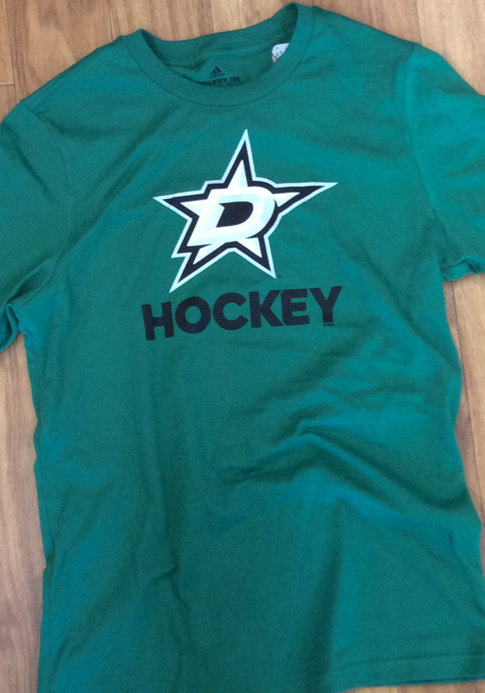 Adidas Dallas Stars Kelly Green Hockey Club Short Sleeve T Shirt - Image 2