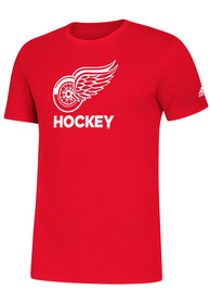 Detroit Red Wings Adidas Hockey Club T Shirt - Red
