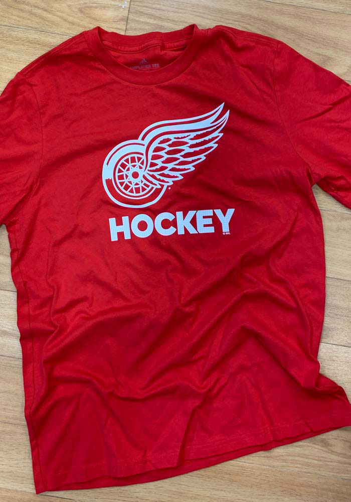 Adidas Detroit Red Wings Red Hockey Club Short Sleeve T Shirt - Image 2