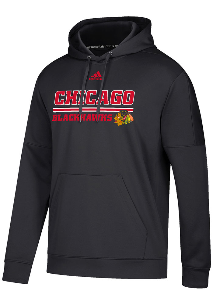 Adidas Chicago Blackhawks Mens Black Team Bar Hood - Image 1