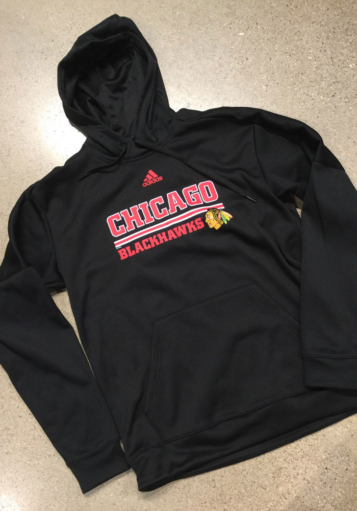 Adidas Chicago Blackhawks Mens Black Team Bar Hood - Image 3
