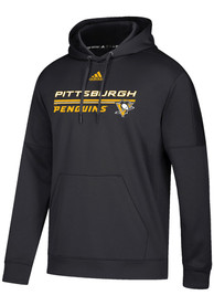 Pittsburgh Penguins Adidas Team Bar Hood - Black