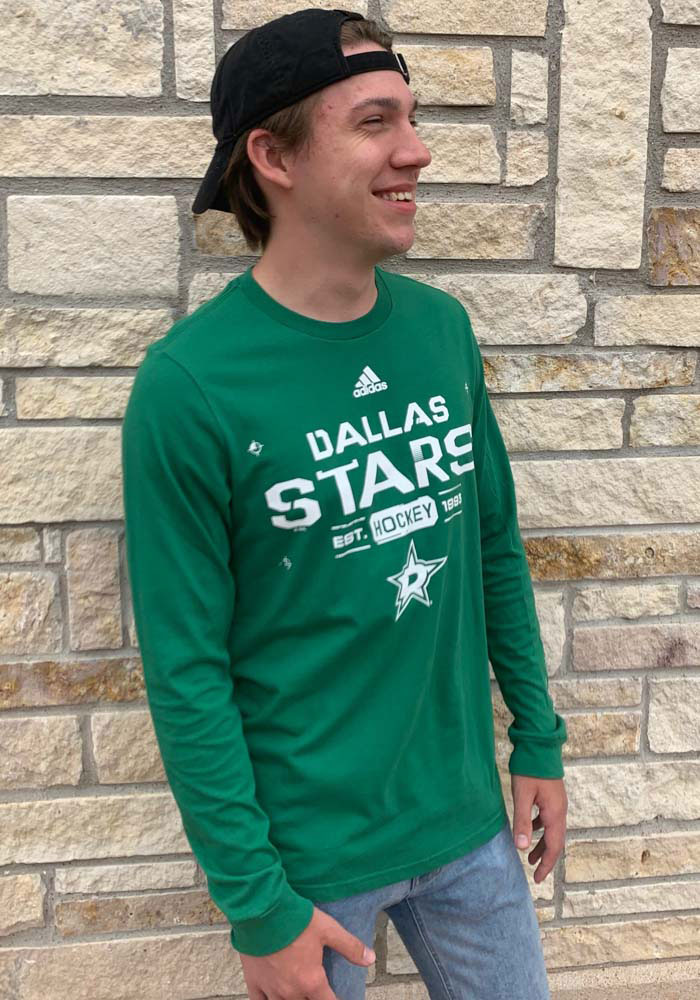 Adidas Dallas Stars Kelly Green Powered By Long Sleeve T Shirt - Image 2
