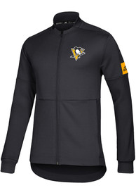 Pittsburgh Penguins Adidas Game Mode Zip - Black