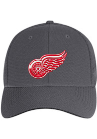 Detroit Red Wings Adidas Primary Structured Flex Hat - Charcoal