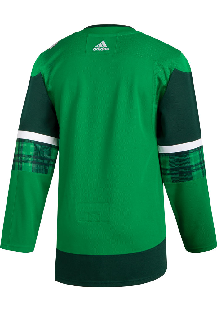 Adidas Dallas Stars Mens Green 2020 St. Patricks Day Authentic Hockey Jersey - Image 2
