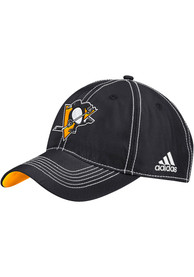 Pittsburgh Penguins Adidas Dobby Climalite Adjustable Hat - Black