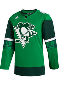 Pittsburgh Penguins Adidas 2020 St. Patricks Day Hockey Jersey - Green