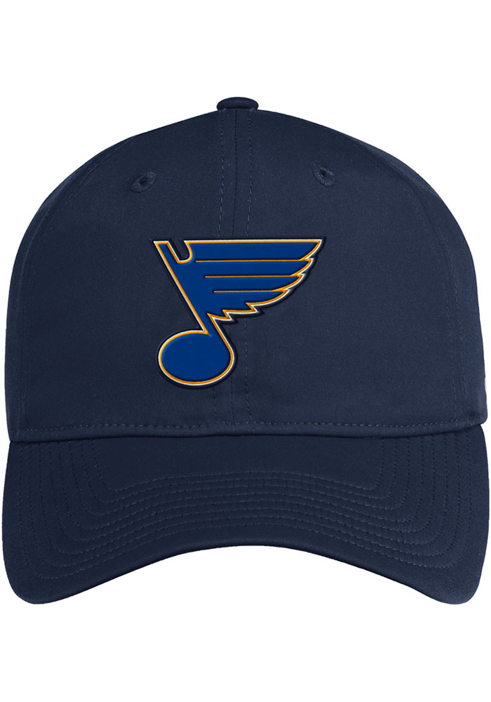 Adidas St Louis Blues Primary Slouch Adjustable Hat - Navy Blue - Image 2