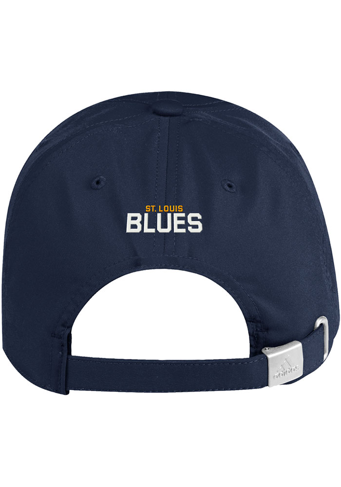 Adidas St Louis Blues Primary Slouch Adjustable Hat - Navy Blue - Image 3