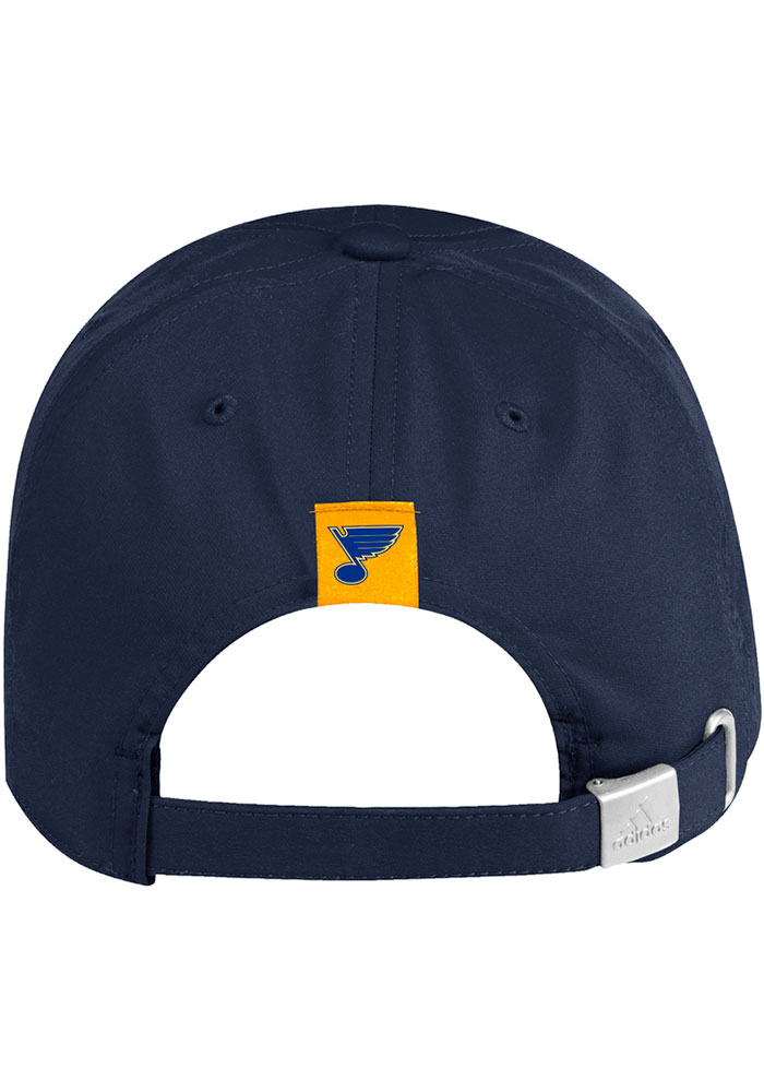 Adidas St Louis Blues Secondary Slouch Adjustable Hat - Navy Blue - Image 3