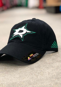 Adidas Dallas Stars Secondary Slouch Adjustable Hat - Black