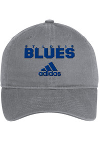St Louis Blues Adidas Team Callout Adjustable Hat - Grey