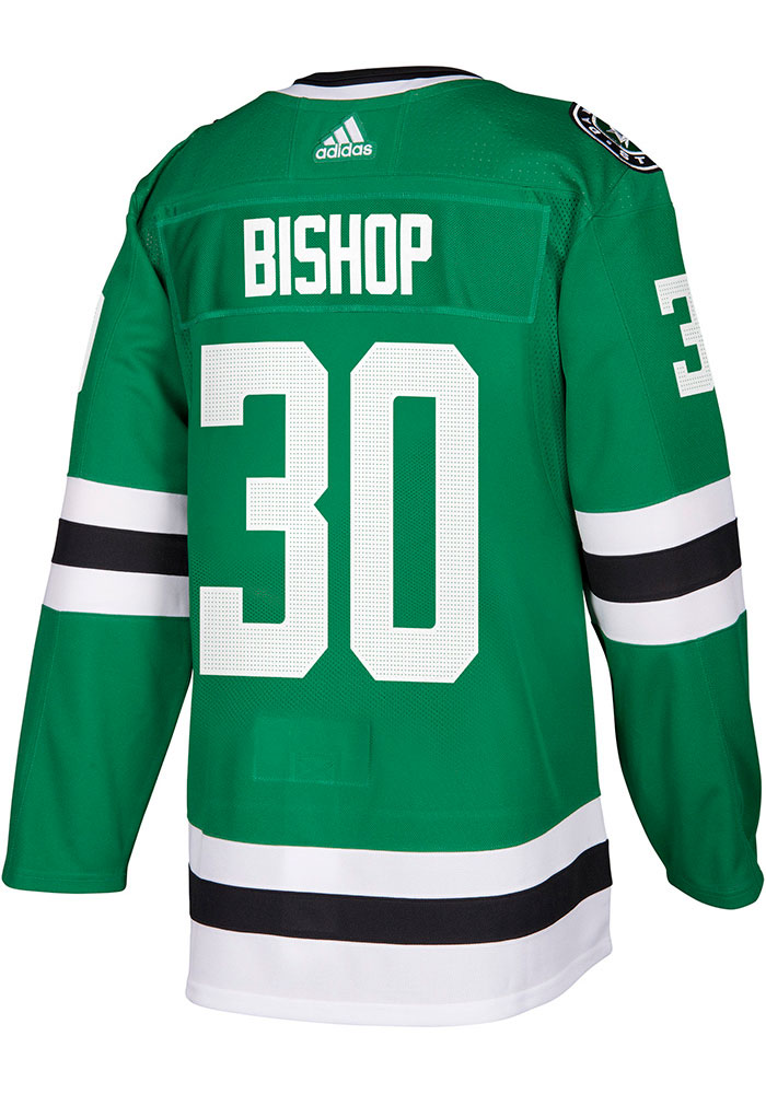 Adidas Ben Bishop Dallas Stars Mens Green Authentic Hockey Jersey - Image 1