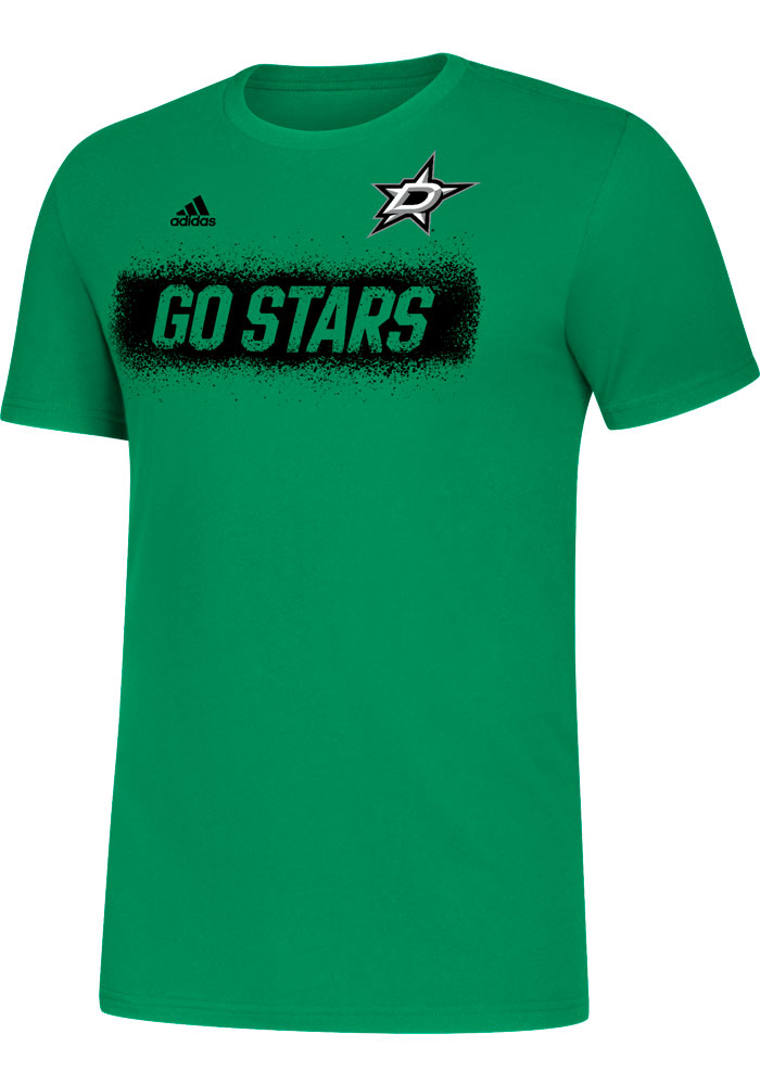 Dallas Stars Adidas Spray It On T Shirt - Kelly Green