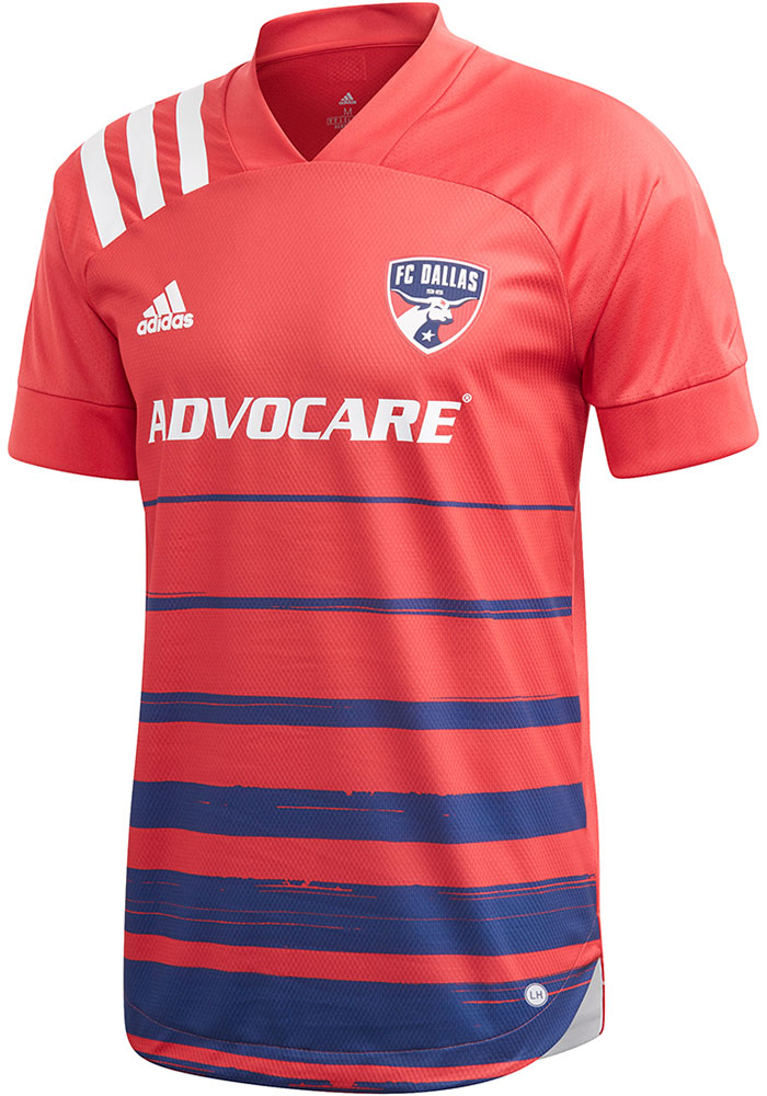 FC Dallas Mens Adidas Authentic Soccer 2020 Primary Jersey - Blue - Image 1