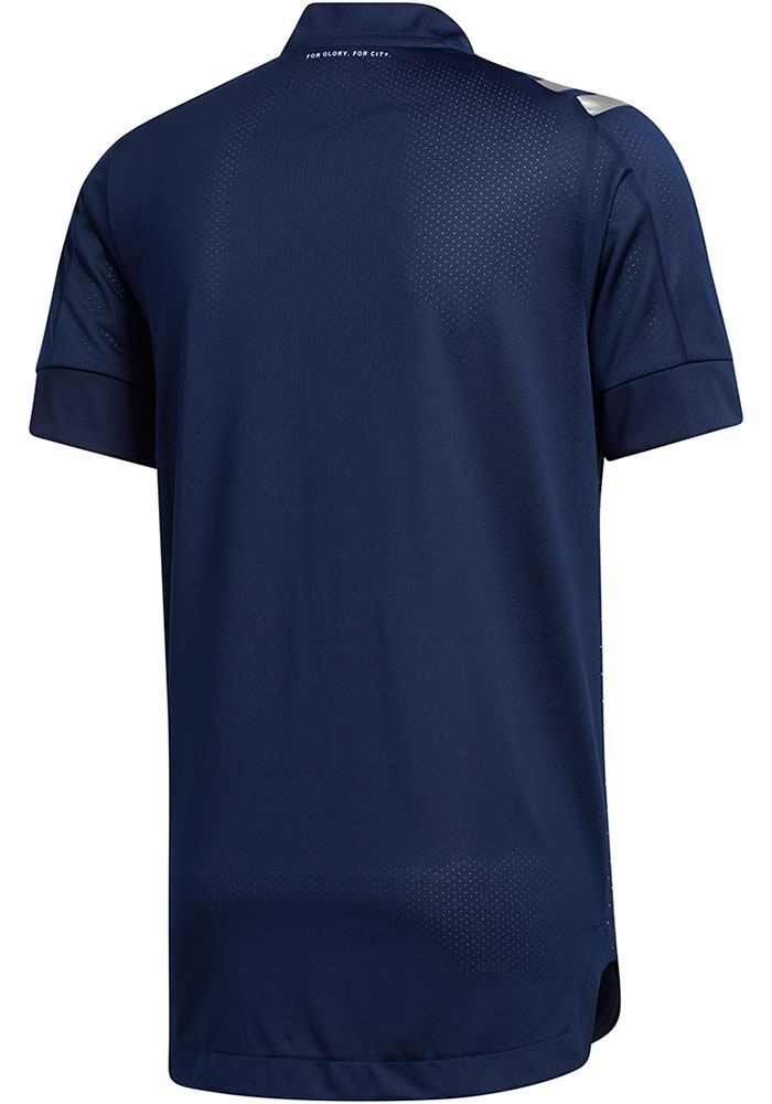 Sporting Kansas City Mens Adidas Authentic Soccer 2020 Secondary Jersey - Navy Blue - Image 2