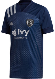 Sporting Kansas City Adidas 2020 Secondary Replica Soccer - Navy Blue