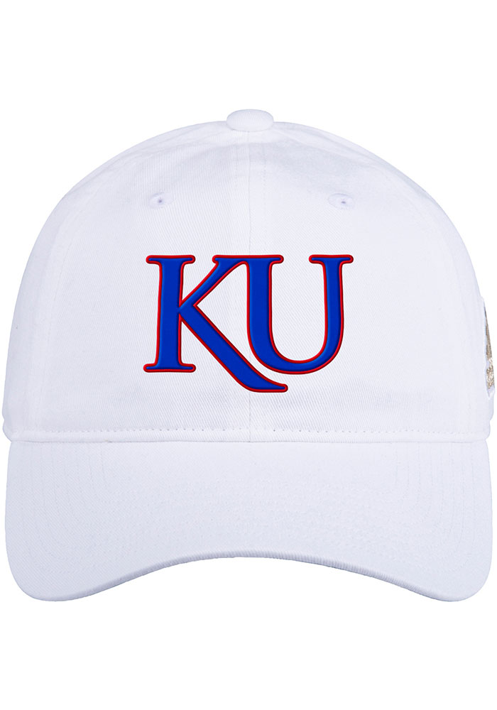 Kansas Jayhawks Adidas Slouch Adjustable Hat - White