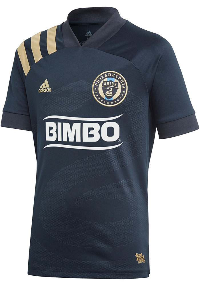 Adidas Philadelphia Union Youth Navy Blue 2020 Primary Soccer Jersey - Image 1