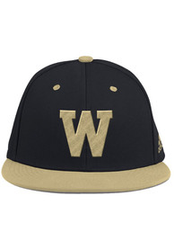 Western Michigan Broncos Adidas Black 2020 On-Field Baseball Fitted Hat