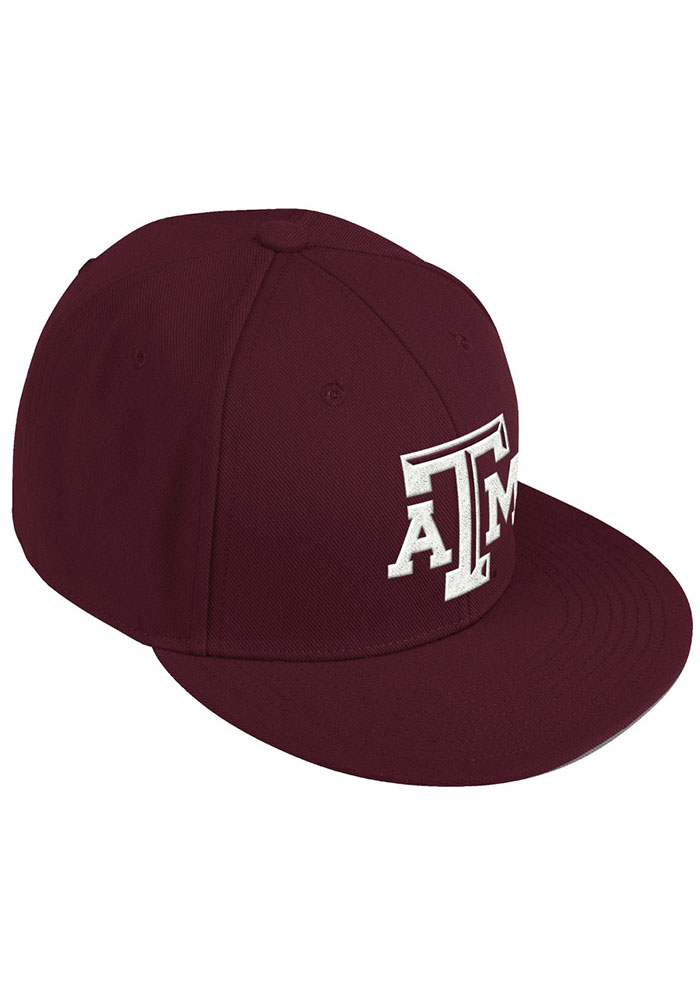 Adidas Texas A&M Aggies Mens Maroon 2020 On-Field Baseball Fitted Hat - Image 2