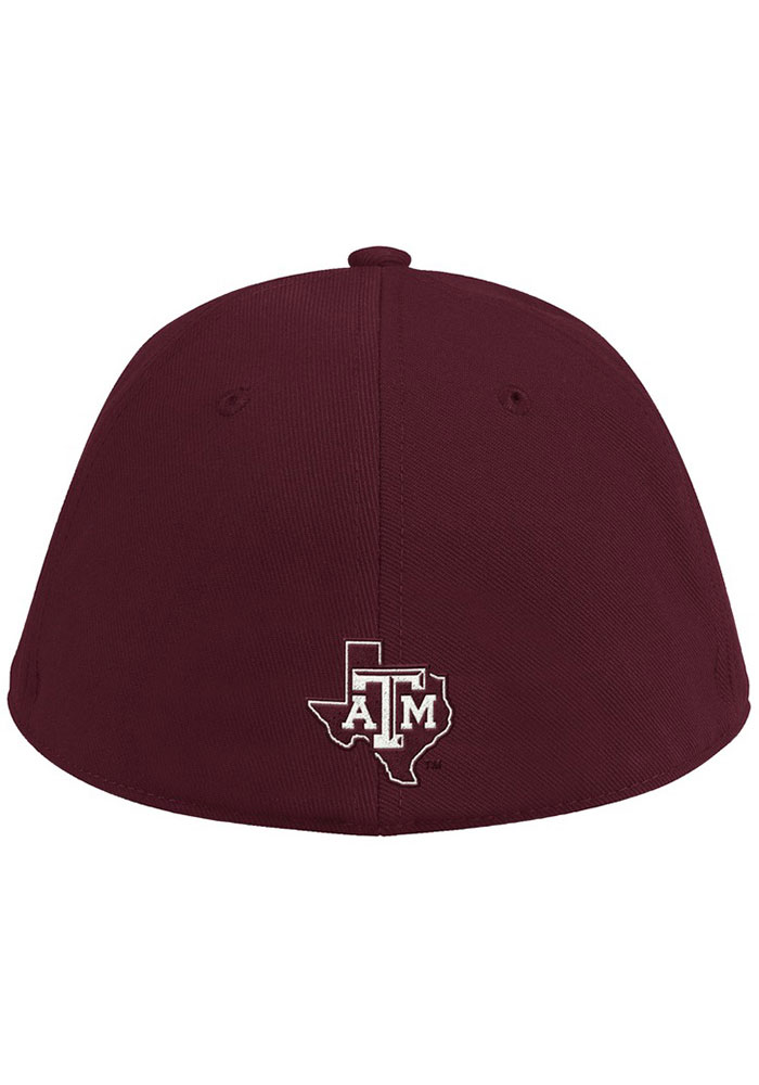 Adidas Texas A&M Aggies Mens Maroon 2020 On-Field Baseball Fitted Hat - Image 3