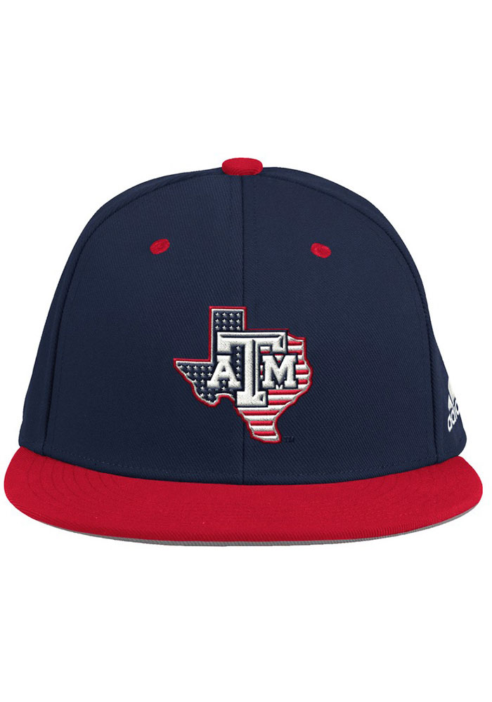 Adidas Texas A&M Aggies Mens Black 2020 On-Field Baseball Fitted Hat - Image 1