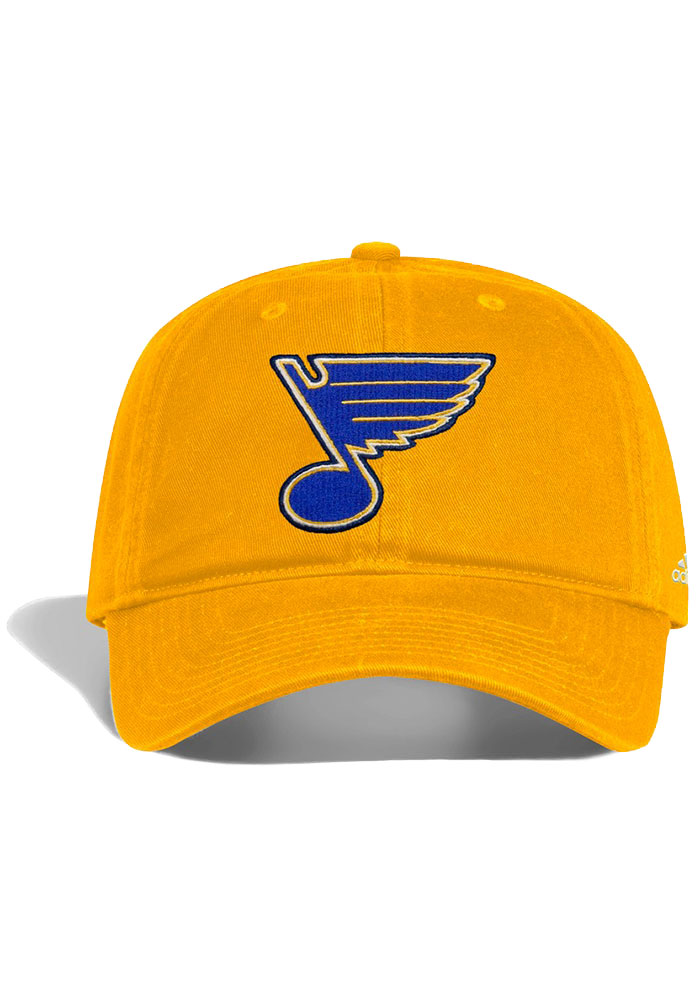 Adidas St Louis Blues Slouch Adjustable Hat - Gold - Image 1