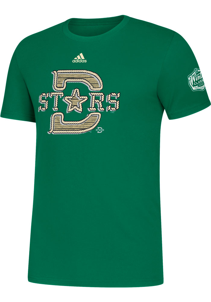 Adidas Dallas Stars Kelly Green 2020 Winter Classic Structured Short Sleeve T Shirt - Image 1
