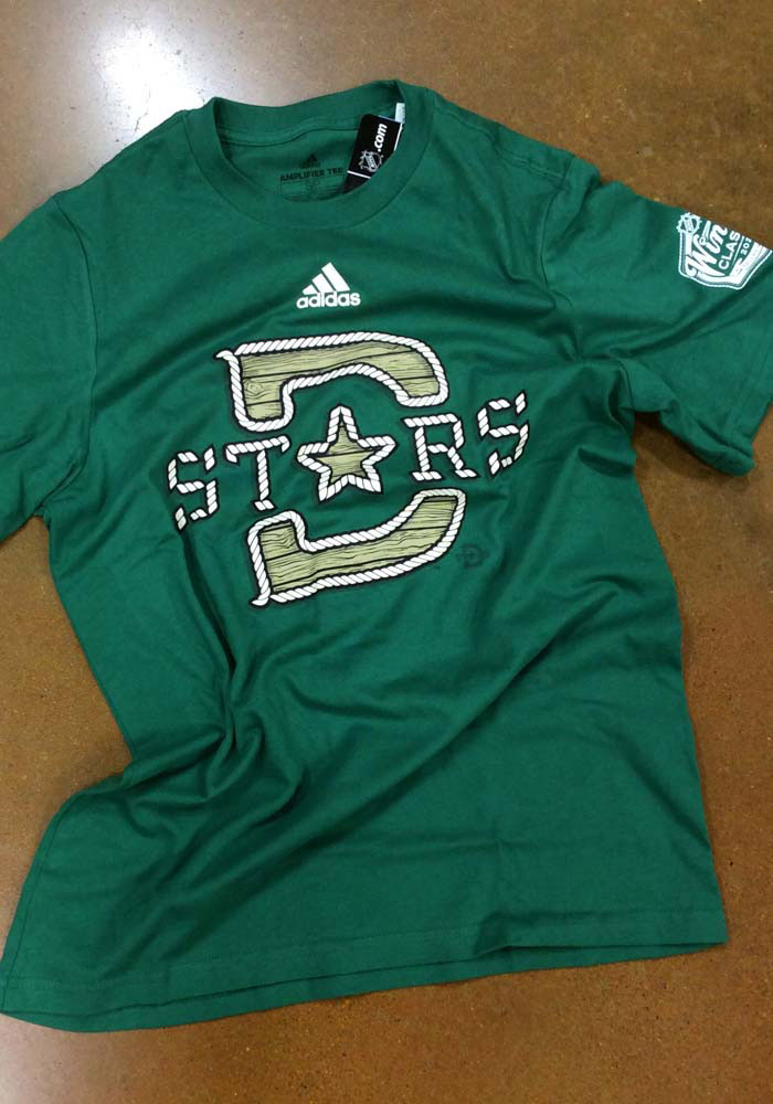 Adidas Dallas Stars Kelly Green 2020 Winter Classic Structured Short Sleeve T Shirt - Image 2