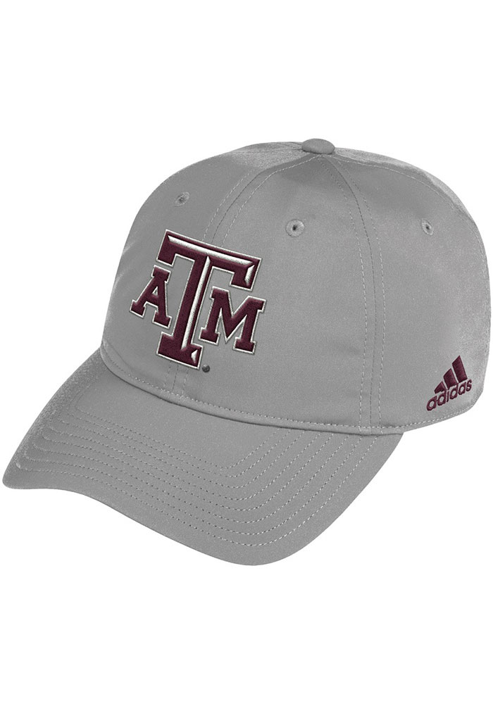 Adidas Texas A&M Aggies 2020 Sideline Coach Slouch Adjustable Hat - Grey - Image 1