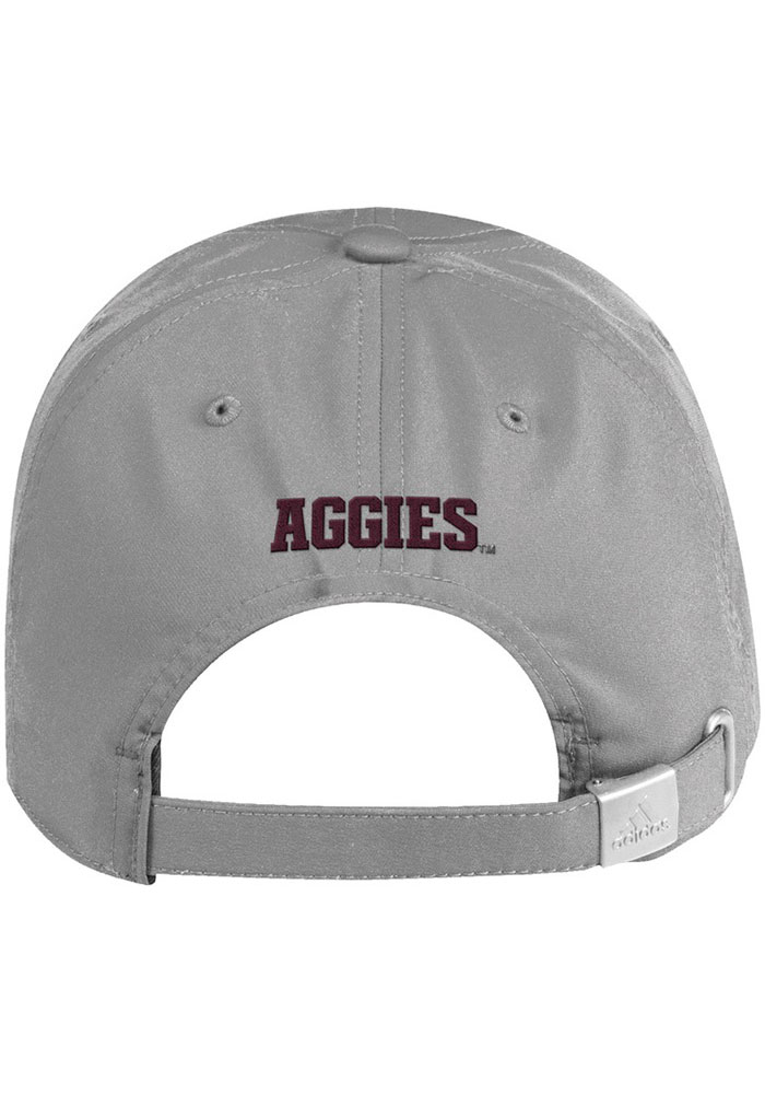Adidas Texas A&M Aggies 2020 Sideline Coach Slouch Adjustable Hat - Grey - Image 3